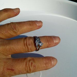 """Women`s marked """"925"""" anniversary ring. Size 7."""
